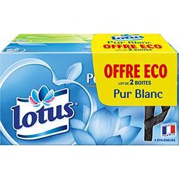 Lotus Mouchoirs Pur Blanc