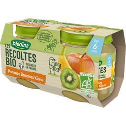 Les Récoltes BIO - Pommes bananes kiwis BIO, dès 6 m...