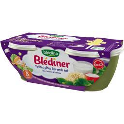 Blédîner - Petites pâtes épinards lait, dès 8 mois