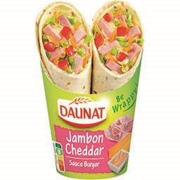 Daunat Be Wrappy ! - Wrap jambon cheddar sauce burger