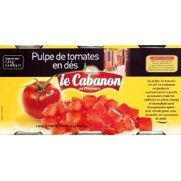 Pulpe de tomates en dés, à base de tomates fraîches ...