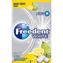 Freedent White - Chewing-gum goût fruit sans sucres