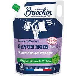 Briochin Recharge lessive au savon noir la recharge de 2 l
