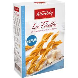 Kambly Biscuits Les Ficelles au fromage de chèvre et poivre la boite de 100 g