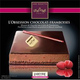 Recette Lenôtre - L'Obsession chocolat-framboises
