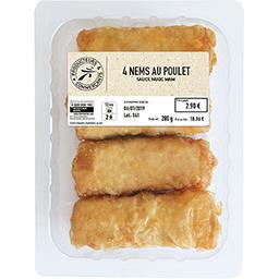 Nems poulet + sauce Nuoc Mam
