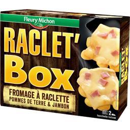 Raclet'Box fromage à raclette pomme de terre & jambon