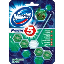 Domestos Bloc WC Power 5 fraîcheur alpine le bloc de 55 g