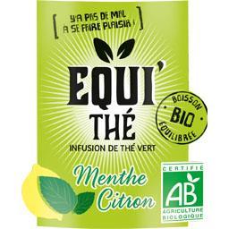 Boisson infusion de thé vert menthe citron BIO