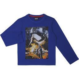 Tee-shirt garçon bleu manches longues taille 8 ans