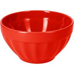 Bol à cotes en faïence rouge 14 cm