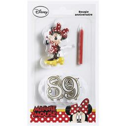 Bougie anniversaire chiffres Minnie Mouse