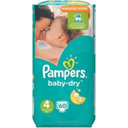 Pampers Couches Baby-dry, taille 4 : 8-16 kg