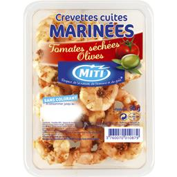 Crevettes cuites marinees tomates sechees
