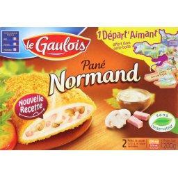 Pané normand, de poulet cuits à la sauce normande