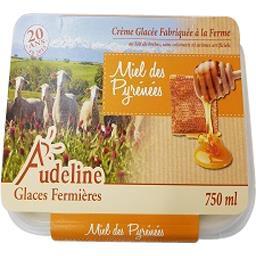 Audeline Crème glacée au miel des pyrénées Le bac de 750 ml