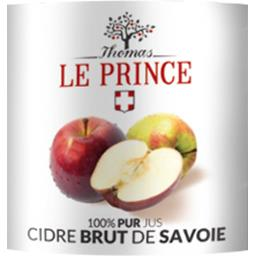 100% pur jus cidre brut de Savoie