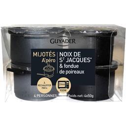 Mijotés noix de St Jacques & fondue de poireaux