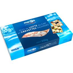 Duo de lotte du Cap et crevettes sauvages