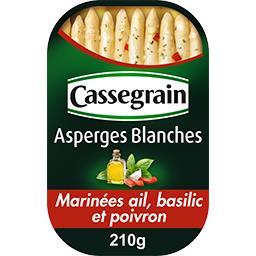 Asperges blanches marinées poivrons, basilic et ail