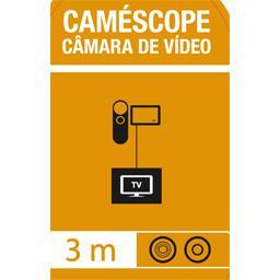 Cordon caméscope 1 jack 4 connecteurs/3 RCA mâles