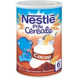 Nestlé Nestlé Bébé P'tite Céréale - Céréale cacao, 6+ mois