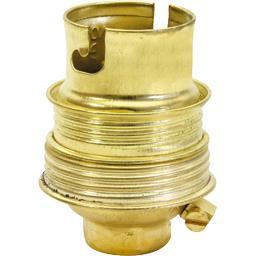 Douille acier laitonné double bague 230V/50Hz 60W B22