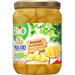 Paquito Ananas en morceaux BIO la boite de 310 g net égoutté