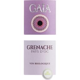 Vin de Pays d'Oc Gaïa Grenache BIO, vin rouge