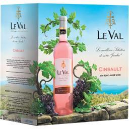 Le Val Vin de pays d'Oc cinsault, vin rosé la fontaine de 2,25 l