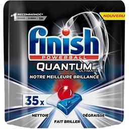 Finish Powerball - Tablettes lave-vaisselle Quantum le sachet de 35 capsules - 437,5 g