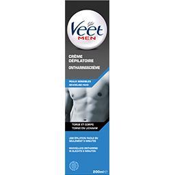 Veet Men - Crème dépilatoire peaux sensibles torse et cor... le flacon de 200 ml