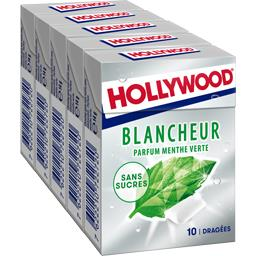 Hollywood Blancheur - Chewing-gum menthe verte sans sucres