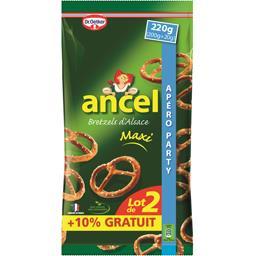 Ancel Maxi Bretzels d'Alsace les 2 paquets de 200 g