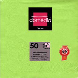 Home - Serviettes unies 2 épaisseurs vert 32,5x32,5 ...