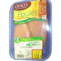 Escalopes de poulet x2