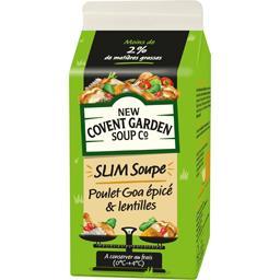 Slim Soup poulet Goa épicé & lentilles