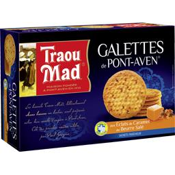 Traou Mad de Pont-Aven Galettes aux éclats de caramel au beurre salé la boite de 300 g
