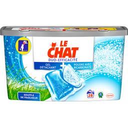 Le Chat Duo Efficacité - Doses de lessive liquide Souffle fr... les 28 doses de 23,5 g