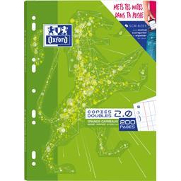 Oxford Copies doubles 2,0 School perforé A4 90 g seyès 2 co... le paquet de 200 pages