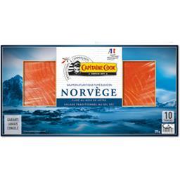 Capitaine Cook Saumon fumé Norvège la plaque de 375 g