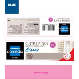 Utility - Cintre pince Classic bleu
