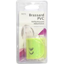 Brassard PVC réfléchissant 400x45mm fluo