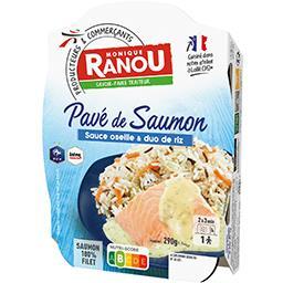 Pavé de saumon sauce oseille & riz basmati