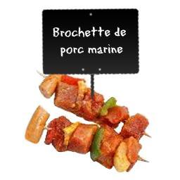 Brochettes de PORC marinées à la sauce provençale