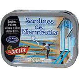 Le Trésor des Dieux Sardines de Noirmoutier la boite de 80,5 g net égoutté
