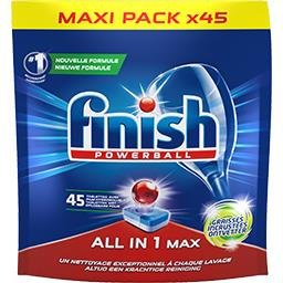 Powerball - Tablettes lave-vaisselle Tout en 1 Max graisses incrustées