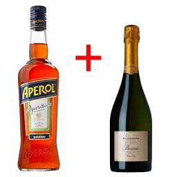 1 bouteille Apérol, apéritif italien = 1 bouteille Riccadonna, vin pétillant italien Prosecco 75cl offerte