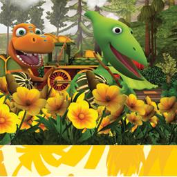 Serviettes 3 plis 33x33 cm Dinosaur Train