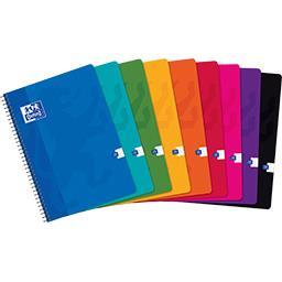 Cahier intégrale210x297 90 g seyès coloris assortis